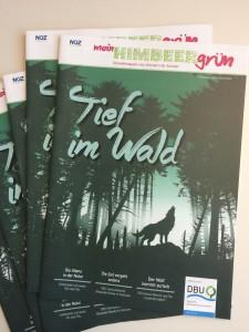 Die aktuelle Ausgabe von mein Himbeergrün zum Thema Wald. Foto: Kathrin Pohlmann