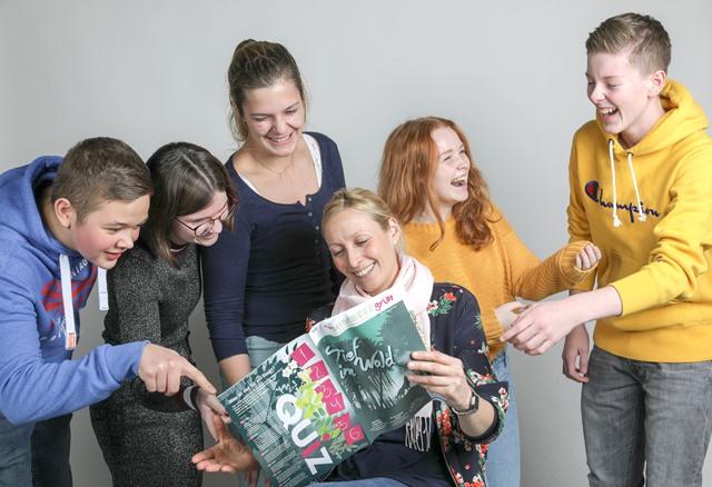 Osnabrück:  Kinderzeitung: Foto mit den Mitgliedern der Jugendredaktion.